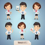 Managers Cartoon Characters Set1.1 Royalty Free Stock Images