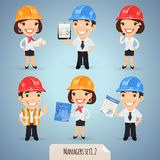 Managers Cartoon Characters Set1.2. Managers Cartoon Characters In Helmet Set1.2 In the EPS file, each element is grouped separately. Clipping paths included in Royalty Free Stock Image