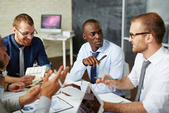Managers discussing ideas Stock Photos