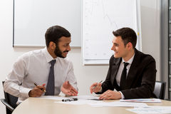 Managers are discussing. Royalty Free Stock Photo