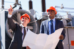 Managers electrical substation Royalty Free Stock Photo
