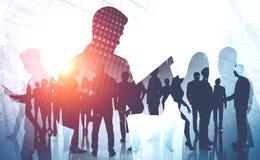 Managers en groepswerkconcept stock fotografie