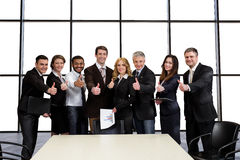 Managers of Media Corporation at a business meeting. stock photo