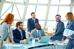 Managers at meeting Royalty Free Stock Photo