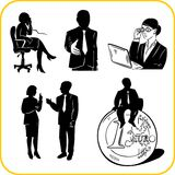 Managers and office. Vector set. Royalty Free Stock Images