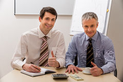 Managers at the table. Royalty Free Stock Photo