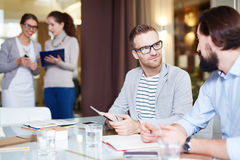 Managers at work Royalty Free Stock Photography