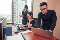 Managers at work Royalty Free Stock Images