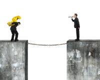 Managerspreker het bevelen teken van de werknemers het dragende dollar Stock Afbeelding