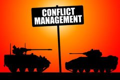 Managing conflict. Conflict management and trying to find a peaceful solution Royalty Free Stock Photography