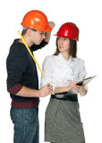 Managing of construction process Stock Images