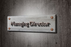 Managing director Royalty Free Stock Photo