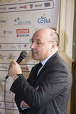 The Managing Director of Sampdoria Beppe Marotta. Beppe Marotta, the Managing Director of Sampdoria (italian soccer team), during the presentation of Stars in royalty free stock photo