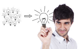 Managing good ideas Stock Photos
