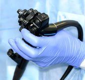 Managing of modern endoscope Stock Images