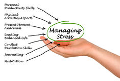 Managing Stress. Presenting diagram of Managing Stress Stock Photos