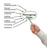 Managing Stress. Presenting diagram of Managing Stress Royalty Free Stock Images