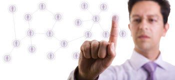 Managing your contact network Stock Image