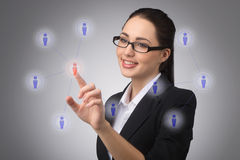 Managing your contact network Royalty Free Stock Photo