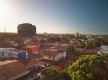 Managua city at dusk time stock image