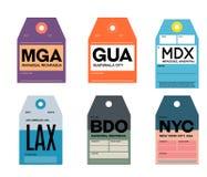 Managua ciudad de Guatemala Mercedes Los Ángeles Bandung Nueva York stock de ilustración