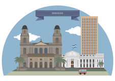 Managua, Nicaragua vector illustration