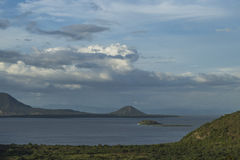 Managua`s lake Panoramic view stock photo