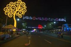 Managua-Straße auf Weihnachten lizenzfreie stockfotos