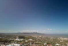 Managua town landscape with lake stock image