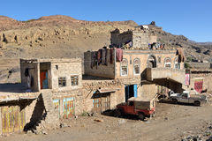 典型的也门房子 免版税图库摄影