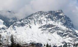 Manali喜马偕尔邦镇山在印度 库存图片