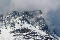Manali喜马偕尔邦镇山在印度 免版税库存照片