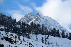 Mountain of Manali Himachal Pradesh Town in India. Manali is a high-altitude Himalayan resort town in India's northern Himachal Pradesh state. It has a Stock Photography