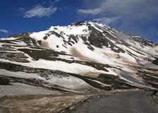 Manali keylong leh  highway, himachal india. Manali -Leh Road  goes past windswept snow decked mountains in the upper himalayan region Royalty Free Stock Image