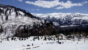 Manali kullestation, nära Kullu, Rohtang passerande, Himanchal Pradesh, Indien Arkivbilder