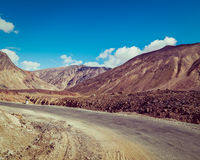 Manali-Leh road in Himalayas Stock Photography