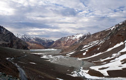 Manali - Leh Road in Jammu and Kashmir, India. Road from Manali to Leh in Jammu and Kashmir State, India. Leh–Manali Road is a highway in Northern India Stock Photography