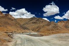 Manali-Leh road. To Ladakh in Indian Himalayas with car. Ladakh, India stock images