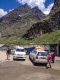 Manali - Leh, strada della strada principale di Ladakh, India fotografia stock libera da diritti