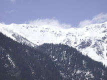 Manali_snow peaks. Manali landscape - view of Rohtang pass, located at 13,000 ft royalty free stock images