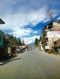 Manali stad, Himachal Pradesh, Indien Arkivbilder
