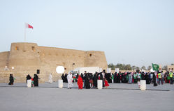 MANAMA, BAHRAIN - APRIL 28:  Heritage festival. MANAMA, BAHRAIN - APRIL 28: People visits at Arad Fort heritage village  on April 28, 2011 on the occasion of Stock Photography