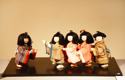 Kotoro: Playing Tag. MANAMA, BAHRAIN - MARCH 01: The Dolls of Japan Exhibition on March 01, 2012 in Bahrain on the occasion of the festival Manama Capital of stock illustration