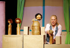 Puppets in Sneezing Firas show Stock Images