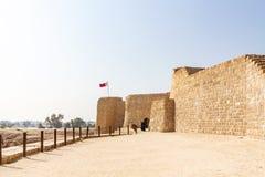 MANAMA, BAHREIN - DECEMBER 19, 2018: Fort van de ru?ne van Bahrein in Manama, Bahrein Qal ?bij al-Bahrein Plaatsmuseum, Unesco stock foto