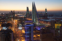 Manama City at night, Bahrain Royalty Free Stock Photos