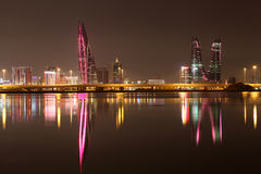 Manama at night. Bahrain Stock Image
