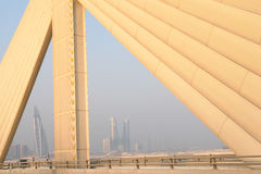 Manama scene from Shaikh Isa bin Salman bridge Royalty Free Stock Photography