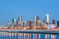 Manama skyline at night, Bahrain Stock Images