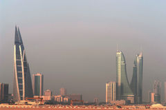 Manama-Stadtpanorama - Bahrain Stockfotografie